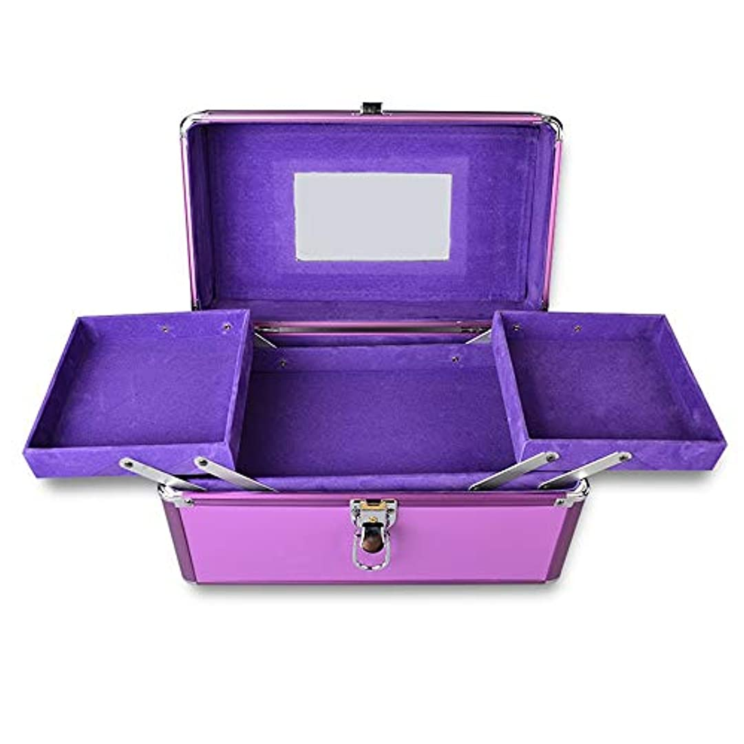つづり家庭白菜特大スペース収納ビューティーボックス 美の構造のためそしてジッパーおよび折る皿が付いている女の子の女性旅行そして毎日の貯蔵のための高容量の携帯用化粧品袋 化粧品化粧台