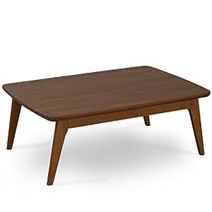 ワイエムワールド こたつ おしゃれ 長方形 幅105cm 105×75cm テーブル コタツ 北欧 こたつテーブル ブラウン