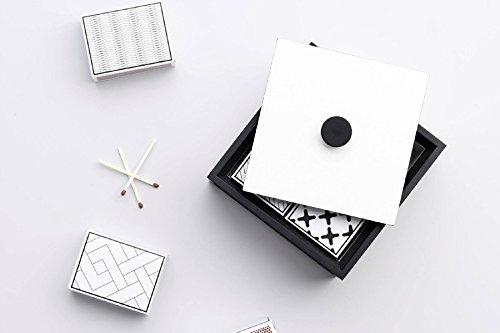 by Lassenバイラッセン 木製 収納ボックス / 小物入れ 幅10cm オブジェにも 【 ダークグレー 】