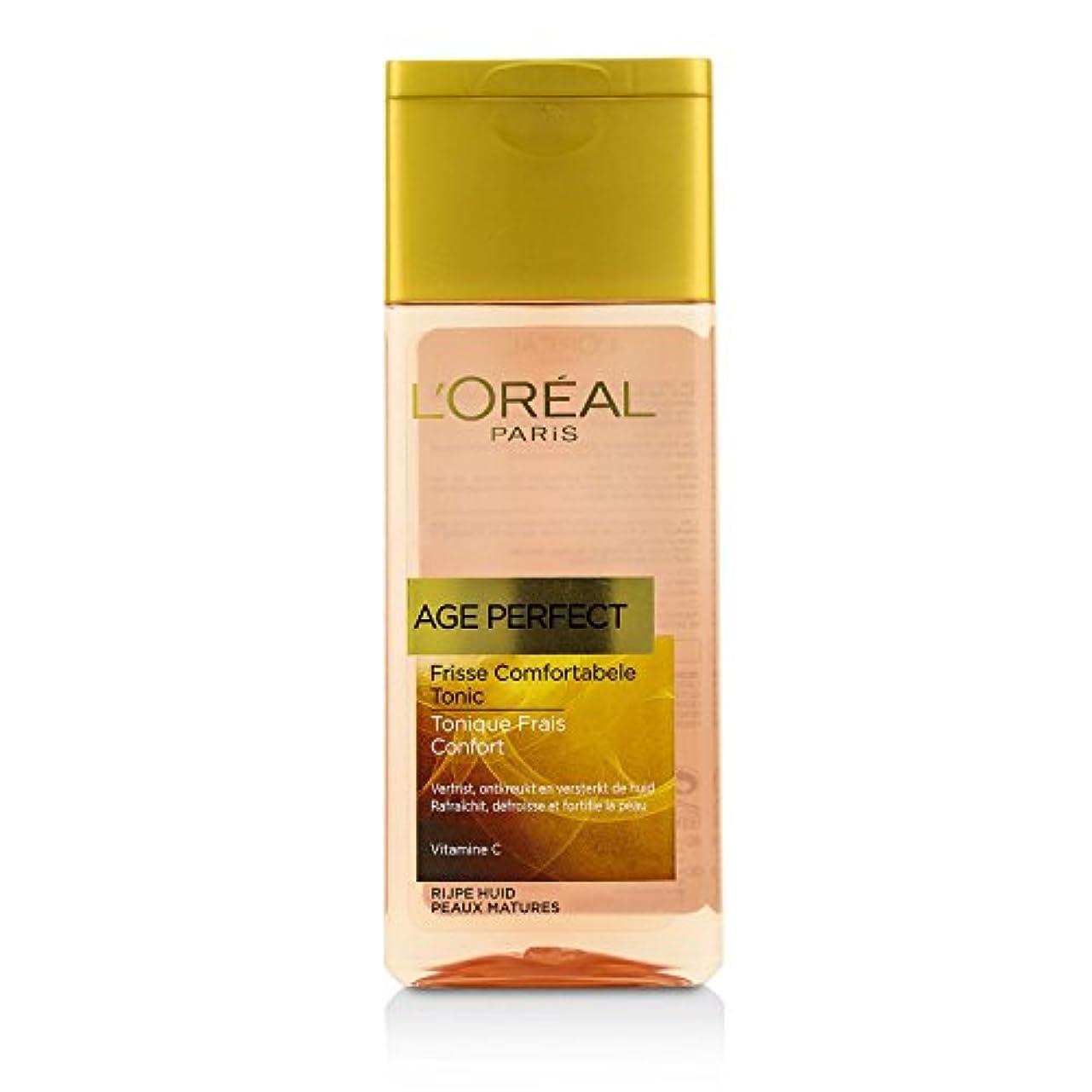 ピュー剛性タイムリーなロレアル Age Perfect Comfortable toner With Vitamin C (For Mature Skin) 200ml/6.7oz並行輸入品