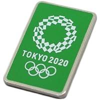 東京 2020 オリンピック 組市松紋 エンブレム ピンバッジ グリーン