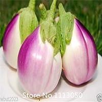 黄色:プロモーション野菜の種、茄子の種子の100個、黒、紫、黄色、緑、白のナスの種、1つの袋に色を混ぜる11月