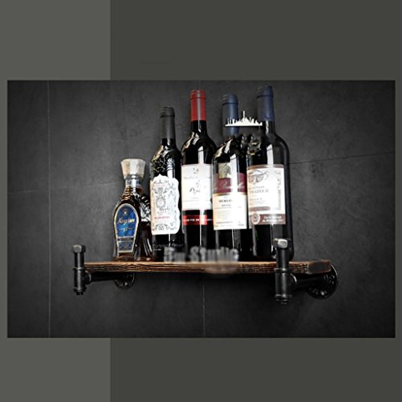 ワインラック、ロフト錬鉄製のパイプ無垢材の壁掛けワインラックバーワインラック、ディスプレイスタンド (サイズ さいず : 1000mm)