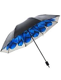 HaAimNay 折りたたみ傘 花柄 日傘 晴雨兼用 遮光 遮熱 UPF50 UV 紫外線 99% カット 大型 96cm レディース 8本骨