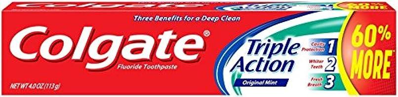 アーティスト関係電報Colgate トリプルアクション歯磨き粉、4オンス