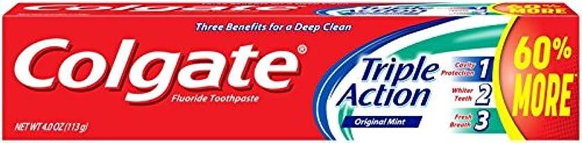 扱いやすいエレベーター窓Colgate トリプルアクション歯磨き粉、4オンス