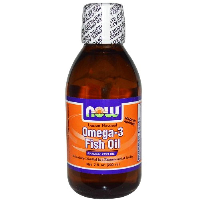 簡略化するボンド役職[海外直送品] ナウフーズ  - Omega-3 風味を付けられる魚オイルレモン - 7ポンド