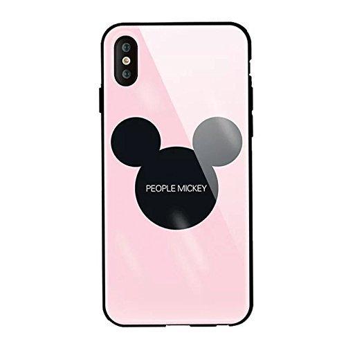 iPhone ケース 強化ガラスカバー ディズニーキャラクタ...