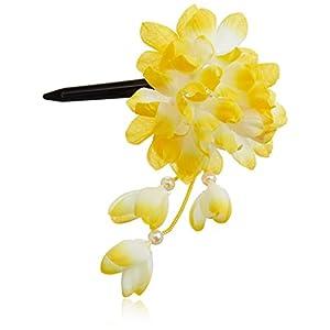 [粋花]Suikaあじさい風和装髪飾り149 イエロー