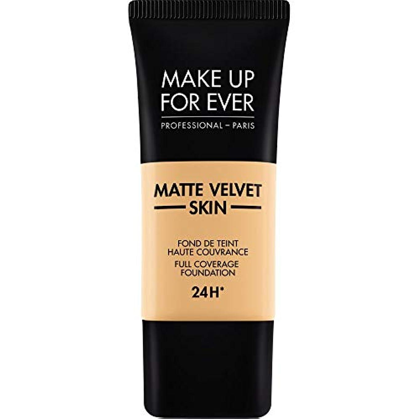 王位美徳パキスタン[MAKE UP FOR EVER ] 柔らかい砂 - これまでマットベルベットの皮膚のフルカバレッジ基礎30ミリリットルのY245を補います - MAKE UP FOR EVER Matte Velvet Skin Full...