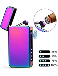 LcFun 電子ライター プラズマライター usb ledライト 充電式 防風 軽量 薄型 プレゼント