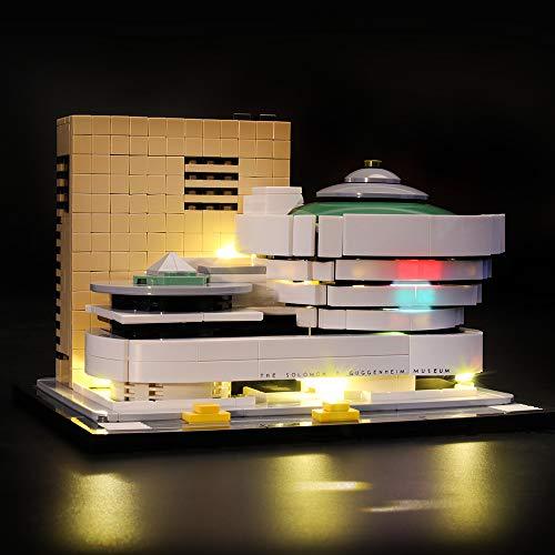アーキテクチャー ソロモン・R・グッゲンハイム美術館 ブロック組み立てモデル 対応 Lightailing LEDライトセット – レゴ 21035 対応LEDライトキット (本体別売)