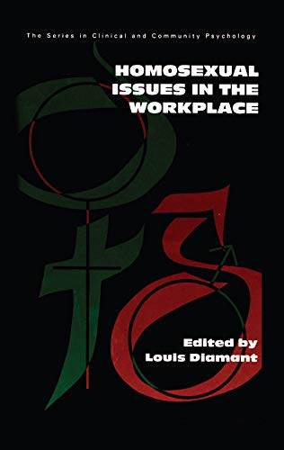 Homosexual Issues In The Workplace (SERIES IN CLINICAL AND COMMUNITY PSYCHOLOGY) (English Edition)