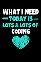 What I Need Today Is Lots Lots Of Coding: Coding Notebook Gift | 120 Dot Grid Page