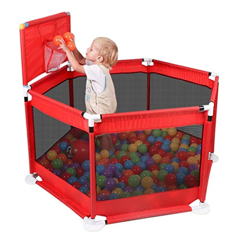 子供の遊びフェンスの幼児の安全フェンス屋内の遊び場の赤ちゃんのクロールマットの幼児 (Color : Red, Size : 66 * 125cm)