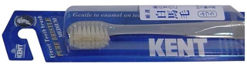 瞑想する生きる休戦KENT 白馬毛歯ブラシ コンパクトヘッド ふつう KNT-1232 ×3個セット