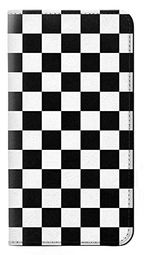 JPW1611XZP チェッカーボード Checkerboard Chess Board Sony Xperia XZ Premium フリップケース