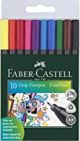 Faber-Castell Fineliner GRIP Finepen (Set of 10) アートペン (並行輸入品)