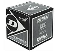 Dunlop Competition - Single Yellow Dot Squash Ball by Dunlop