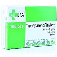 Jfa - 洗える透明盛り合わせプラスター(6サイズ)、1箱につき100プラスター