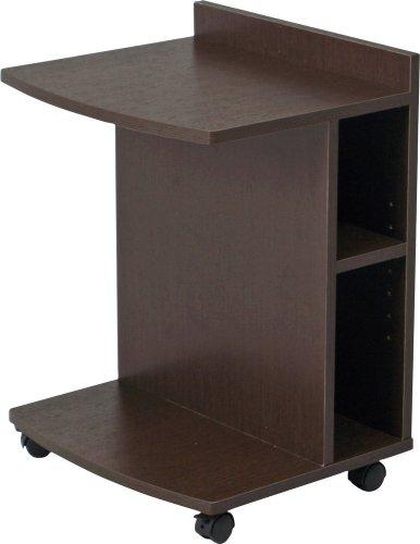 不二貿易 マルチサイドテーブル ハイ 幅45×奥行39.5×高さ62cm ブラウン 78195