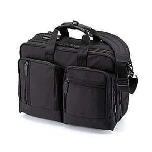 サンワダイレクト 3WAYビジネスバッグ 横背負い 通勤 1~2日出張対応 A4 マチ拡張 15.6ワイド PC収納 200-BAG064