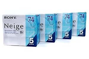 SONY Neige 5MDW74NED ミニディスク MD ソニー 74分5枚組 ×4パック バリューセット