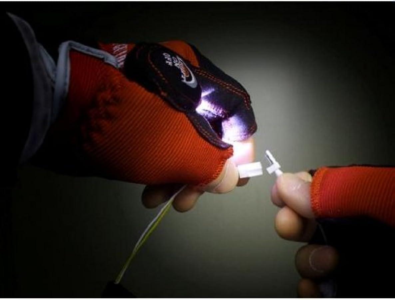 勃起拍手するイブ【LEDライト付手袋】FLASH GUIDE2?指無しタイプ (レッド, M)