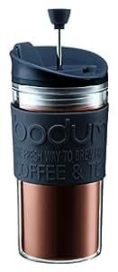 【正規品】 BODUM ボダム TRAVEL PRESS SET マグ用リッド付コーヒーメーカー 350ml ブラック K11102-01