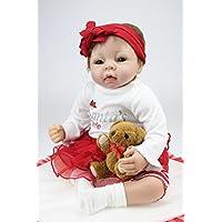 シリコンRebornベビー人形LifelikeガールLittle Helper Baby Alive Stuffedボディ、22インチby NPK