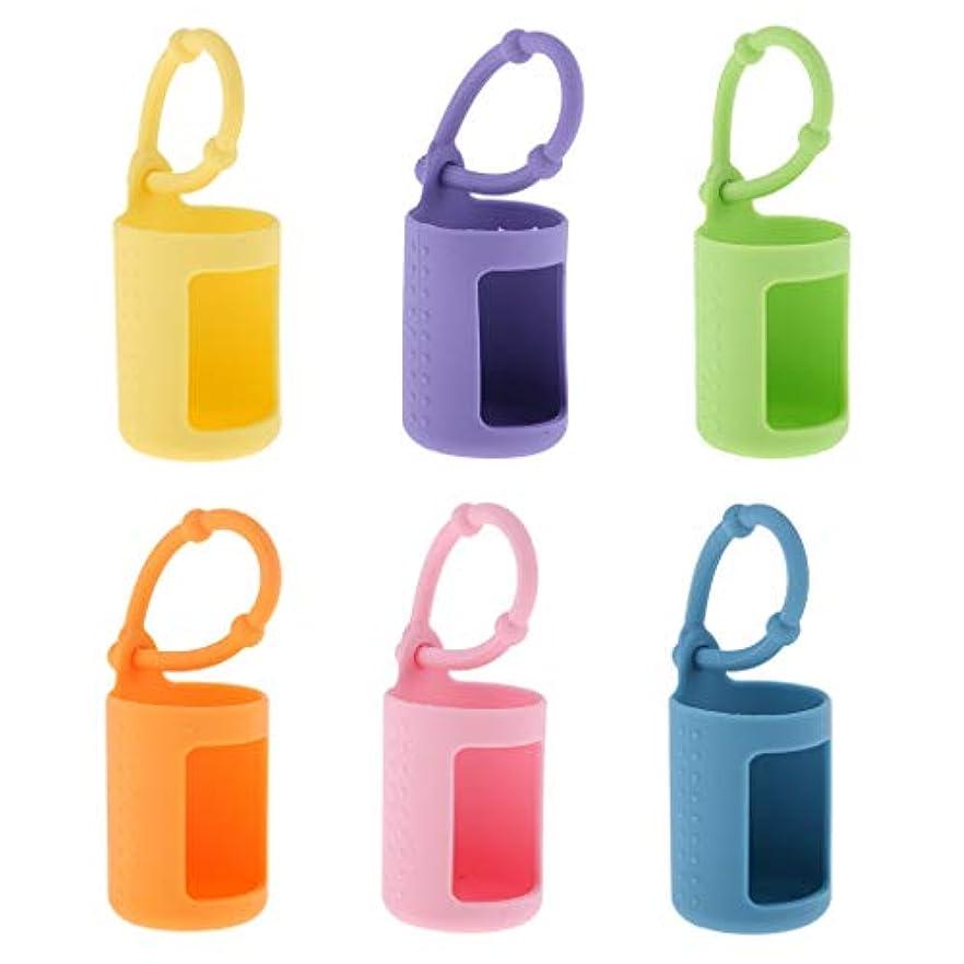 黙郵便局人に関する限りBaoblaze 6個 エッセンシャルオイル 精油瓶カバー 香水ボトルホルダー 15ミリ 掛け 車載 シリコン