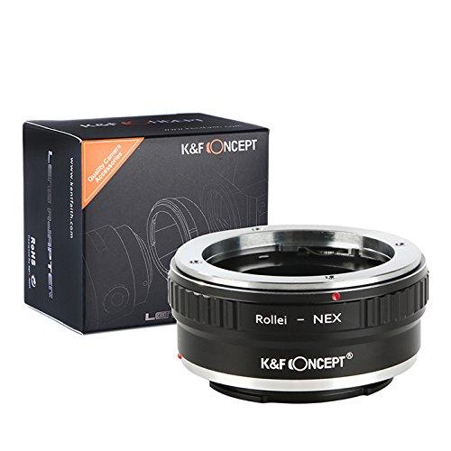 【国内正規品】K&F Concept マウントアダプター 「QBM-NEX」 ローライQBMマウントレンズ x ソニー (α NEX) Eマウントボディ