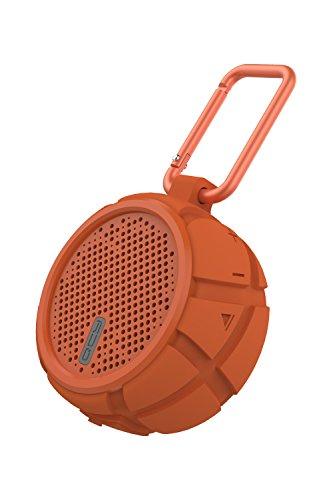 QCY BOX2 Bluetooth スピーカー 防水 防塵 耐振 IP67 両面発生構造 重低音重視 7時間連続再生 有線・無線兼用 ワイヤレス スピーカー マイク搭載 ブルートゥース スピーカー 高音質 ハンズフリー 通話 小型 軽量 iPhone Android 対応 オレンジ QCY-BOX2OR