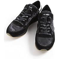 (フィリップモデル) PHILIPPE MODEL ローカット ブラック レザー スニーカー [PMTRLUCF21] [並行輸入品]