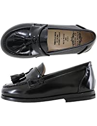 [ミルキーウォーク] Milky Walk Black Tassel Loafer 子供靴 フォーマル ボーイズ ガールズ ローファー