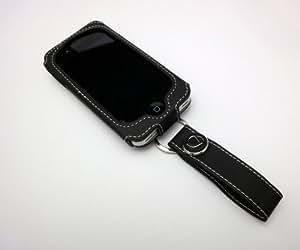 【iPhone4S対応】Deff 多機能 iPhone4/4S PUレザーケース(ベルトホルダー付)ブラック