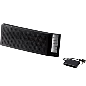 Logitec ロジテック iPhone6s/6s Plus対応iPhone4/4S/3GS/3G スマートフォン対応 apt-X対応 Bluetooth テレビ用スピーカー コンパクト 通話用マイク付 受信機付き ブラック LBT-TVSP100BK