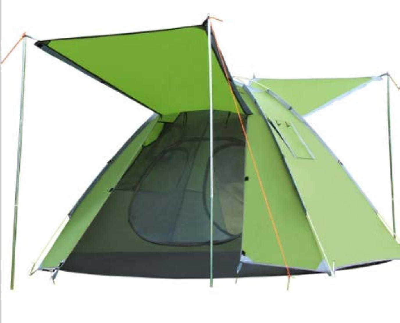 理容師プロポーショナル教師の日Okiiting キャンプ用品3?4人屋外用キャンプテント自動キャンプ用テント通気性がよく、換気が強いハイキング/釣り/キャンプ/ピクニックに最適 うまく設計された