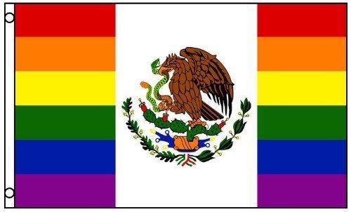メキシコRainbow Gay Pride Flag 3?x 5足バナーLGBT Festival Mexicanサインフラグで新しいホームと休日