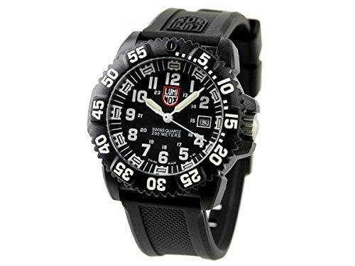 ルミノックス / LUMINOX メンズ腕時計 NAVY SEALs DIVE WATCH 3050 COLORMARK SERIES (ネービーシールズ) ブラック(ホワイト) 3051 [並行輸入品]