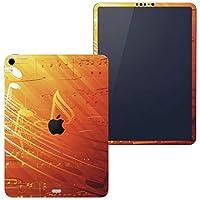 igsticker iPad Pro 11 inch インチ 対応 apple iPad Pro11 シール アップル アイパッド A1934 A1979 A1980 A2013 iPadPro11 全面スキンシール フル 背面 側面 正面 液晶 タブレットケース ステッカー タブレット 保護シール 人気 音符 おんぷ オレンジ 008939