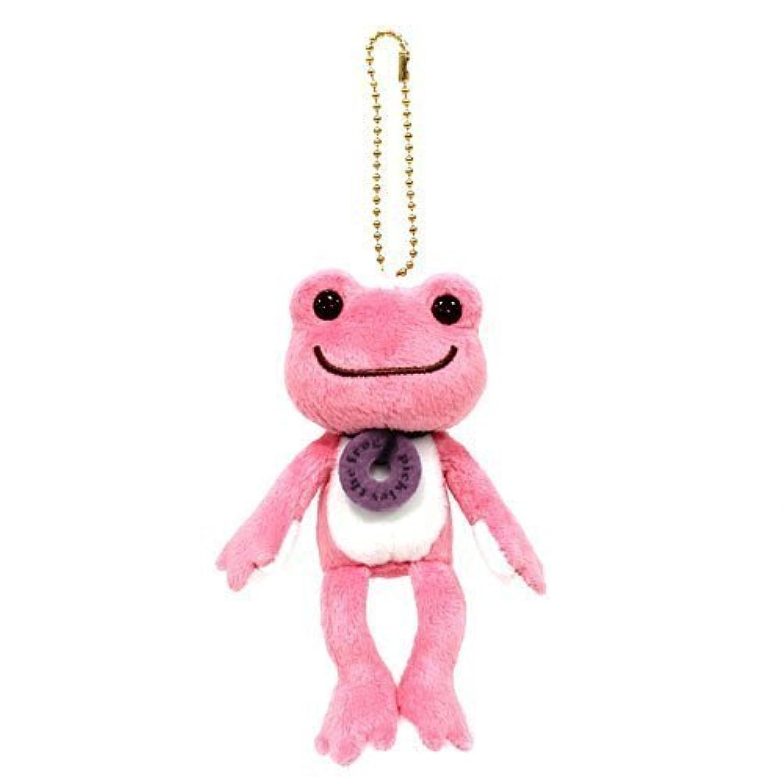 かえるのピクルス ボンジュールピクルス マスコットぬいぐるみ ピンク