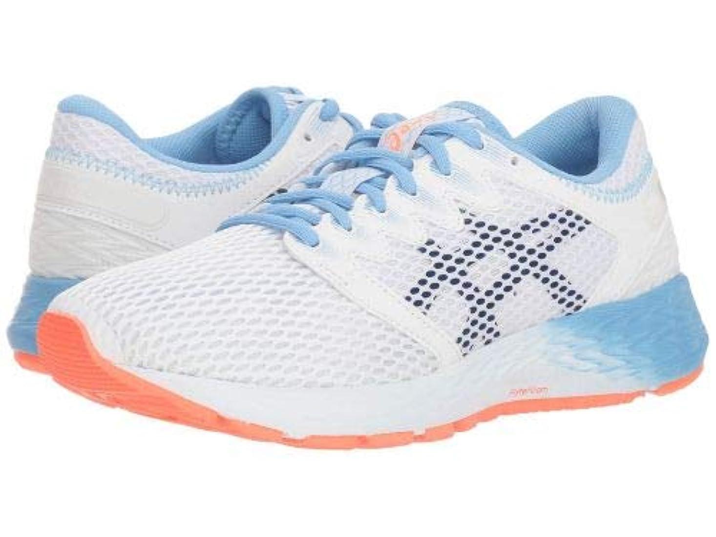 定義顕著彫るASICS(アシックス) レディース 女性用 シューズ 靴 スニーカー 運動靴 Roadhawk FF 2 - White/Black [並行輸入品]