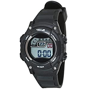 [クレファー]CREPHA 腕時計 デジタル ウレタンベルト 5気圧 防水 ブラック TE-D068-BK ボーイズ