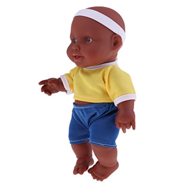 Baoblaze 26cm リアル 赤ちゃん人形 ビニール製 アフリカ人形ドールモデル 抱き人形 2色選ぶ - #2