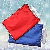 Minloor 2個セット 雪かきグローブ 雪かき手袋 アイススクレーパー ブラシ付 スノーブラシ 愛車の雪、霜、結氷などの除去に 自動車ガラスの霜取りに 軽量 (ブルー+レッド)