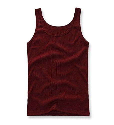 VIMORA メンス 綿Uネックベスト(3色)新しい無地TシャツタンクトップカモノースリーブTシャツA-シャツコットンTOPS (XXL, 白)