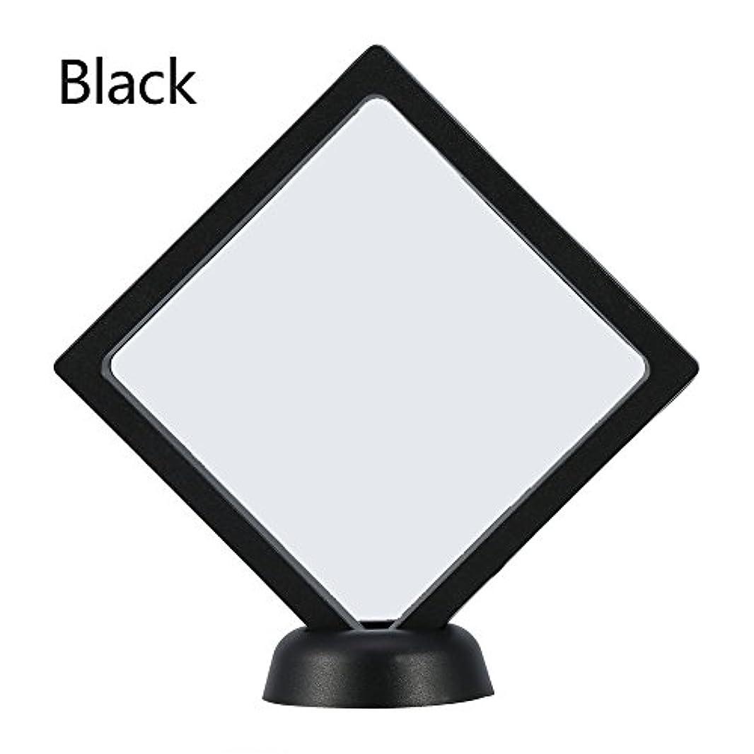 中絶形容詞徴収アクリルネイルプレートとPETフィルムディスプレイスクリーン付きの2つのダイヤモンドネイルディスプレイスタンド - 4.3 4.3インチネイルホルダーツール(Black)