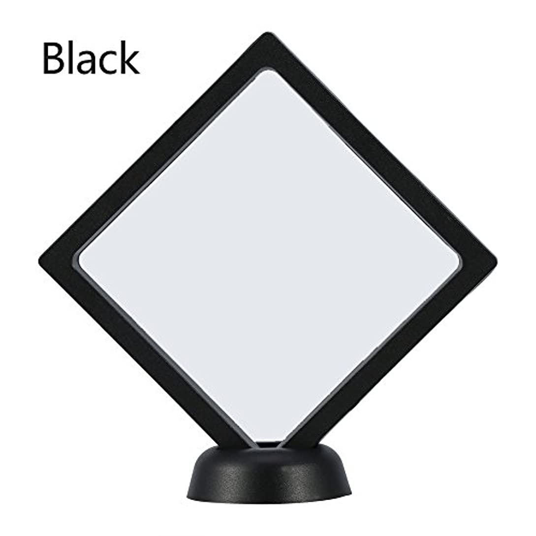容赦ないモールス信号ニックネームアクリルネイルプレートとPETフィルムディスプレイスクリーン付きの2つのダイヤモンドネイルディスプレイスタンド - 4.3 4.3インチネイルホルダーツール(Black)