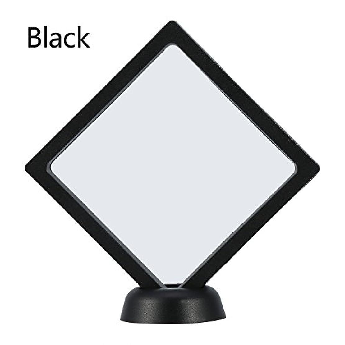 メッセンジャー二十純粋にアクリルネイルプレートとPETフィルムディスプレイスクリーン付きの2つのダイヤモンドネイルディスプレイスタンド - 4.3 4.3インチネイルホルダーツール(Black)